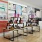 三层流水台中岛柜化妆品展示柜展架母婴店鞋店鲜花展台一件代发