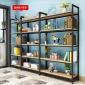 新款书架简约置物架 高隔断书柜储物架 简易样品钢木架定制铁货架