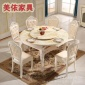 �W式大理石��木餐桌椅�M合多功能伸�s�A桌餐�_家用酒店折�B�L餐桌
