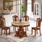 佛山�S家直�N�W式大理石餐桌椅�M合全��木家具餐�d�A桌子一件代�l